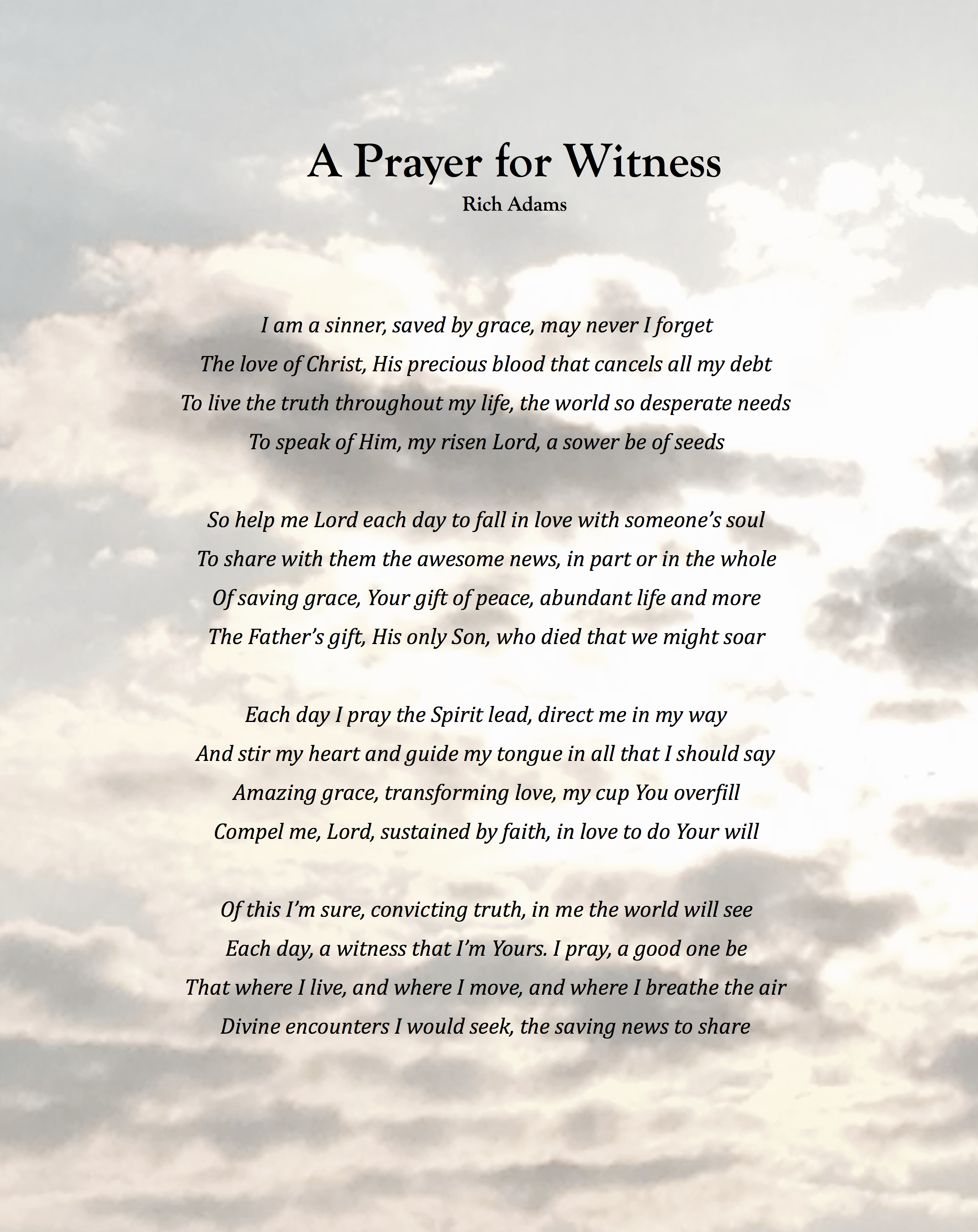 A Prayer for Witness