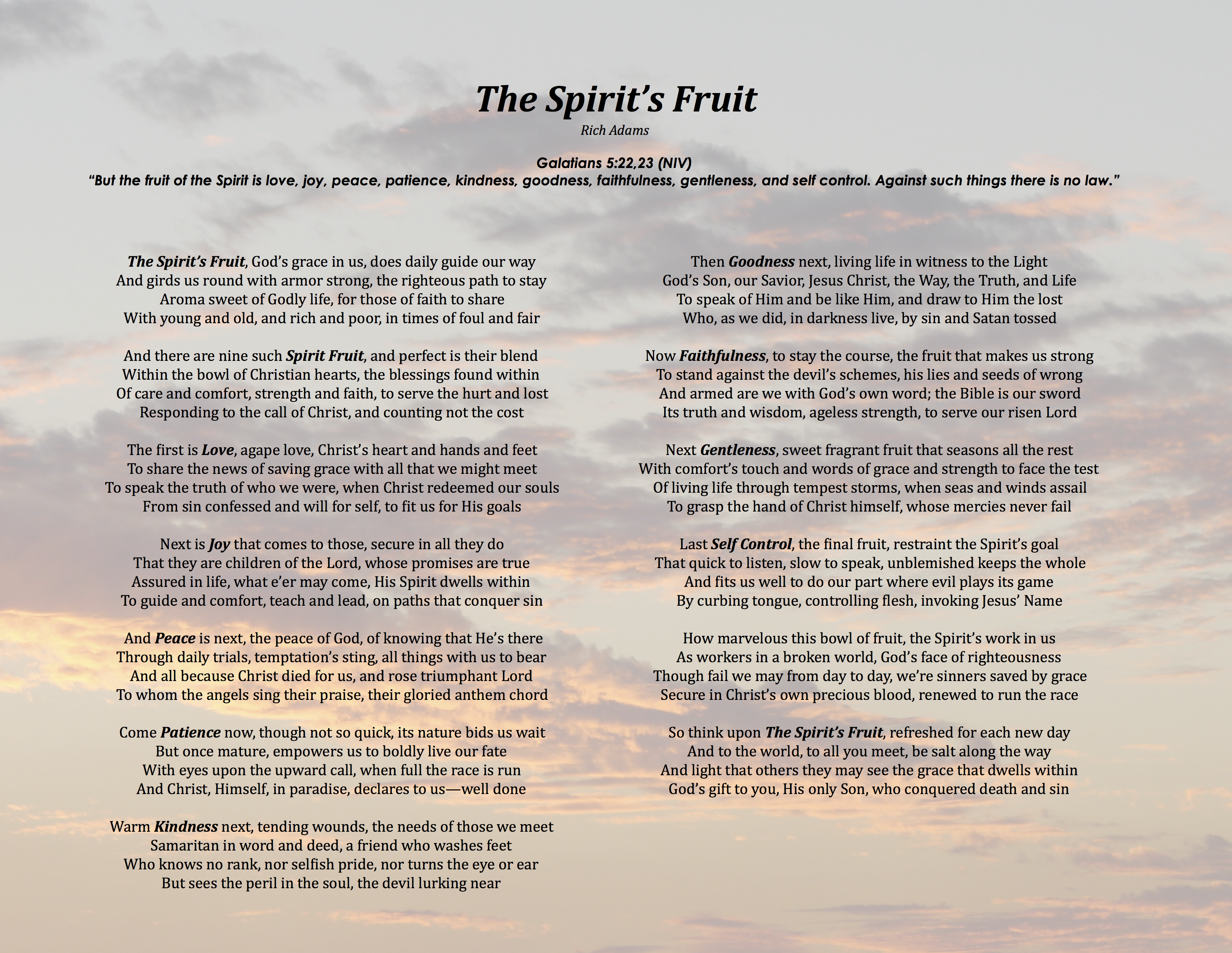 The Spirit's Fruit